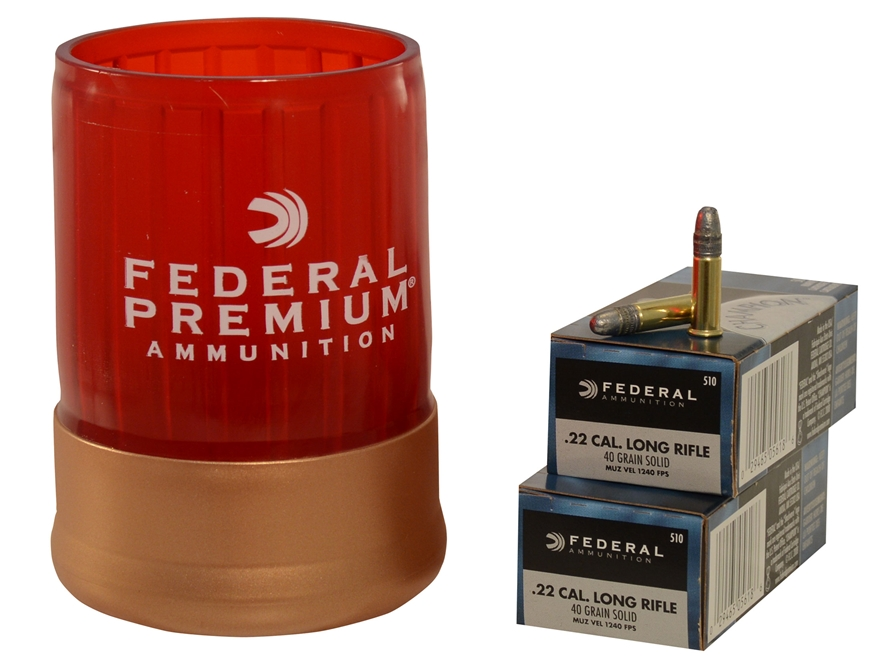 federal can cooler combo champion ammunition 22 long rifle high