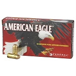 American Eagle Ammunition Subsonic 9mm Luger 147 Grain Full Metal Jacket Box of 50