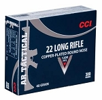 CCI AR Tactical 22LR Copper-Plated Round Nose 300 Rounds 40 Grain