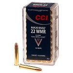 5 PACK - CCI 22 WMR Maximag Solid Point 40 grain Box of 50 (250 Rounds Total) - FREE SHIPPING