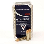 CCI Stinger Ammunition 22 Long Rifle 32 Grain Plated Lead Hollow Point Box of 50