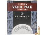 Federal Champion Target Ammunition 22 Long Rifle 36 Grain Plated Lead Hollow Point Box of 525