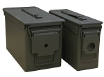 50 & 30 Caliber Steel Ammo Can Combo
