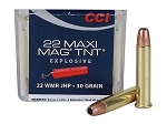 5 PACK - CCI 22 WMR Maxi-Mag TNT Jacketed Hollow Point Box of 50 (250 Rounds Total)