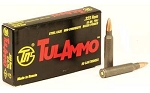 TulAmmo Ammo .223 Rem. FMJ 55 Grain 20 Round Box 3241 fps Steel Cased Polymer Coated 20 Round Box