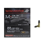 Winchester M-22 Ammunition 22 Long Rifle 40 Grain Black Plated Lead Round Nose Box of 500