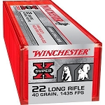 Winchester Super-X 22 lr 40 Grain Plated Hollow Point 1435 fps 100 Rounds