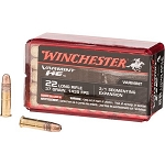 5 PACK - Winchester Varmint High Energy Ammunition 22 Long Rifle 37 Grain Fragmenting Hollow Point Box of 50 - FREE SHIPPING