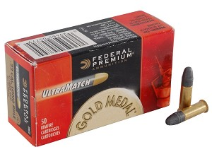 Federal Premium Gold Meal Ultra Match 22 Long Rifle 40 Grain Solids Brick of 500 Rounds