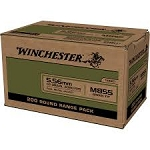 Winchester 5.56 mm 62 Grain FMJ M855 Green Tip (Box of 200 Rounds) - FREE SHIPPING